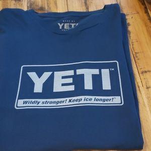 Men's 2XL Yeti Tshirt Short Sleeved Blank Back